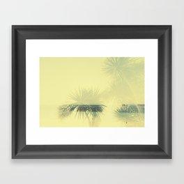 Double exposure Porthminster Beach, Cornwall Framed Art Print