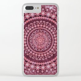 Boho Rosewood Mandala Clear iPhone Case