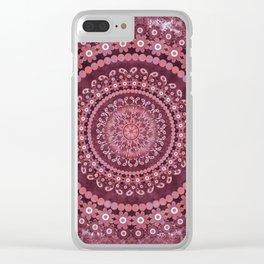 Boho Rosewood Mandala Clear iPhone Case