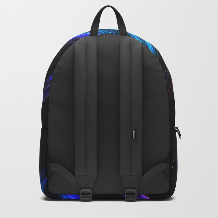Sparkly metallic blue and purple galaxy lines Backpack