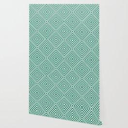 Emerald Elegant Diamond Chevron Wallpaper