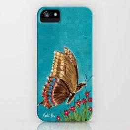 Aqua Butterfly iPhone Case