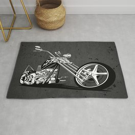 Custom American Chopper Motorcycle Rug