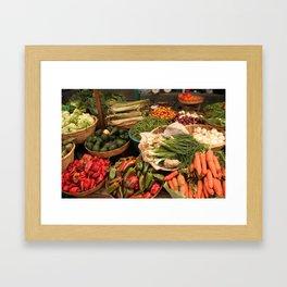 market no. 7: san juan comalapa Framed Art Print