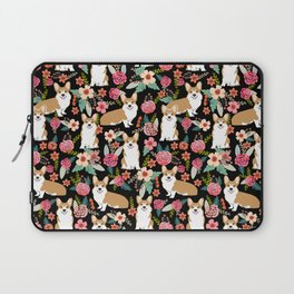 Corgi Florals - vintage corgi and florals gift great for corgi lovers, corgi gift, corgi florals, co Laptop Sleeve