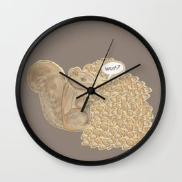 chip! brown Wall Clock