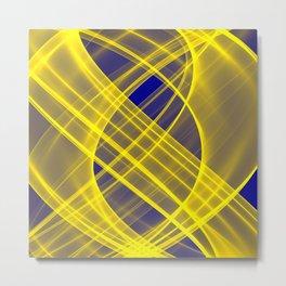 Lightness Entangled (Blue / Yellow) Metal Print