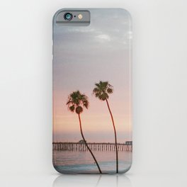 palm trees sunset vi / san clemente, california iPhone Case