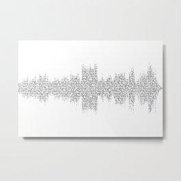 Tori Amos - Silent All These Years Lyrics Soundwave (light backgrounds) Metal Print