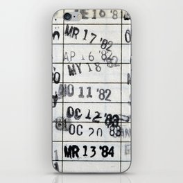Date Due #1 iPhone Skin