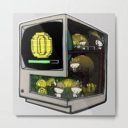 Bitcoin Bunnies Metal Print