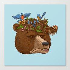 Mr Bear's Nature Hat 2017 Canvas Print