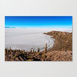 Isla Incahuasi Canvas Print