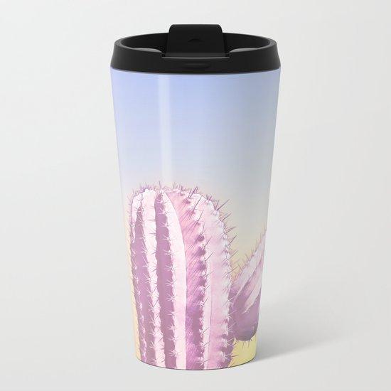 My Pink Cactus Metal Travel Mug