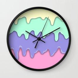 Pastel Ice Cream Melt Wall Clock