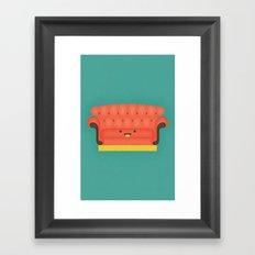 Friends Chair Framed Art Print