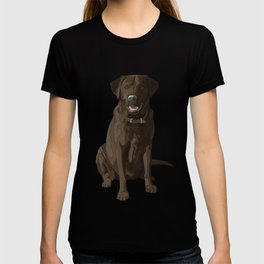 Chocolate Labrador Retriever Brown Dog T-shirt