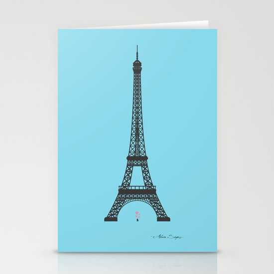 Eiffel Tower - First Kiss Stationery Cards
