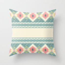 Colorful Geometric Boho Style 2 Throw Pillow