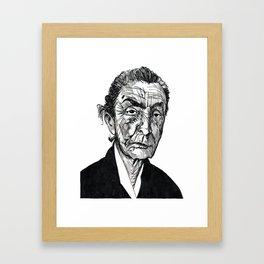 Georgia O'Keeffe portrait Framed Art Print