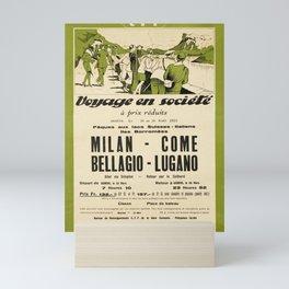 Old milan come bellagio lugano voyage Mini Art Print