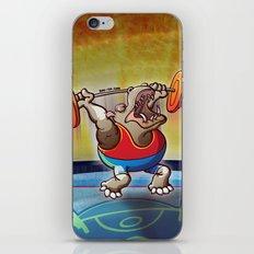 Olympic Weightlifting Hippopotamus iPhone & iPod Skin