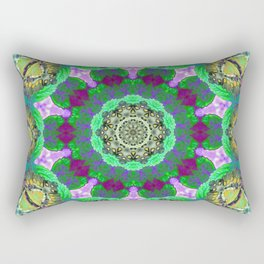 Overdose Of Green Neon Kaleidoscope Rectangular Pillow