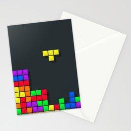 Tetris print design Stationery Cards