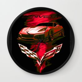 The Fire Speed - USA Supercar Wall Clock