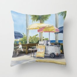 Lonesome Paradise Throw Pillow