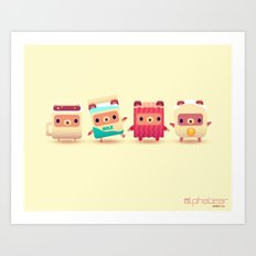 ALPHABEAR - Breakfast Bears Art Print