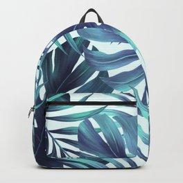 Blue Tropical Backpack