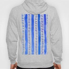 Watercolor lines - blue Hoody