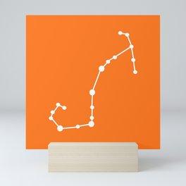 Scorpio (White & Orange) Mini Art Print