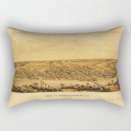 View of Fredericksburg, Virginia (Nov. 1862) Rectangular Pillow