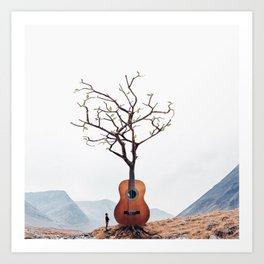 Guitar Tree Kunstdrucke