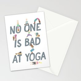 No One is Bad at Yoga Stationery Cards