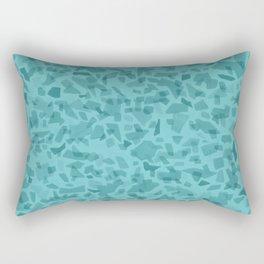 Turquoise Terrazzo Tile Rectangular Pillow