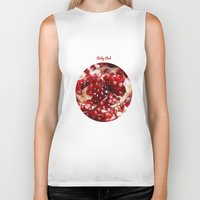 pomegranate Biker Tanks featuring Pomegranate  by Libertad Leal Photography