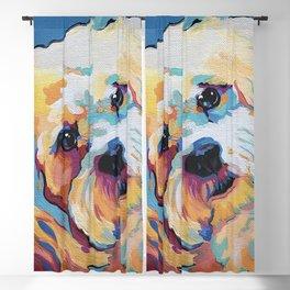 Maltipoo, Cavapoo, Cavachon, Cockerpoo, Mix Breed Custom Pop Art Pet Portrait Blackout Curtain