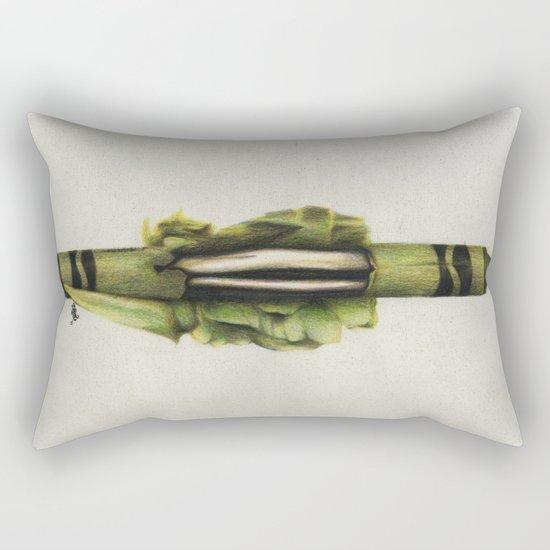 To The Core: Green Rectangular Pillow