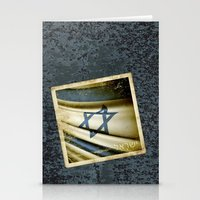 israel Stationery Cards featuring Israel grunge sticker flag by Lulla