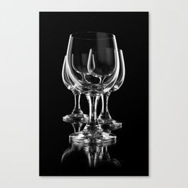Three empty wine glasses Canvas Print