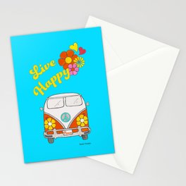 Live Happy Van Stationery Cards