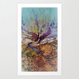 Absurd deep Valley texture Art Print