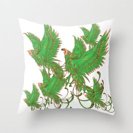 Bird of Fantasy Phoenix Throw Pillow