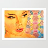valentina Art Prints featuring Valentina by  WOLF