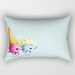 ice-cream in love Rectangular Pillow