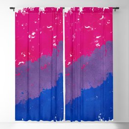 Splatter YOUR Colors - Bi Pride Blackout Curtain