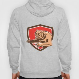 Grizzly Bear Angry Shield Retro Hoody